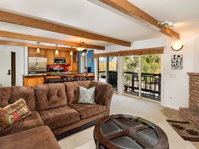 Photo for Snowmass Mountain Views from Balcony. Hot Tub, Fireplace, Parking, On Shuttle, 2 Master Bedrooms