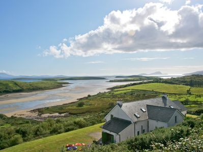 Location of holiday home to Clew Bay and surrounding coastline