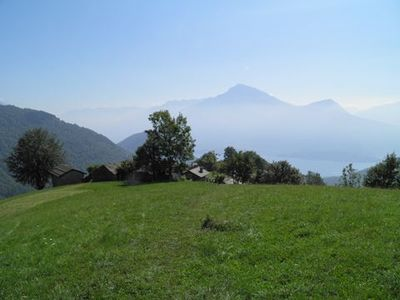 Photo for Baita del Romy is situated on a sunny terrace high above Lake Como in Prennaro. This historic hamlet