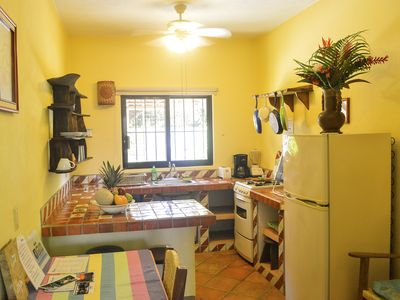 Photo for 1 Bedroom Garden Apartment, patio, chlorine-free pool, 1 minute from beach