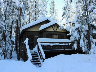 Photo for Tiny Mighty Cabin: Cozy, Pet-Friendly Retreat with Spa!