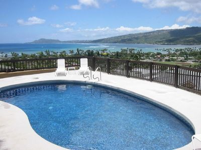 Private Pool and view of Diamond Head