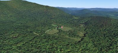 Google Earth image of property.  Feels remote, yet 4 miles from town.