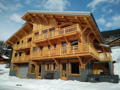Photo for Chalet Les Trois Canards - Châtel, Luxury, Jacuzzi, Sauna