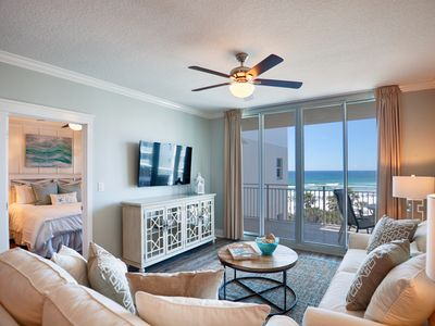 Photo for Waterscape A506 ~ Designer Remodeled in 2017 ~ 60in 4k TV ~ Beach Service ~View!