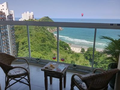 Photo for Tombo beach, total view of the sea, balcony with barbecue, total leisure