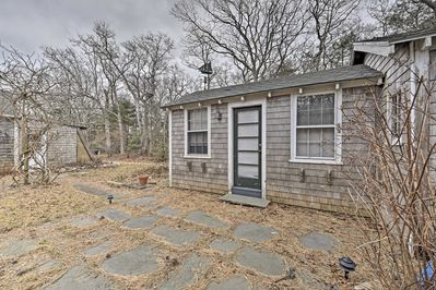 This cottage shares the property with a vacation rental house and apartment.