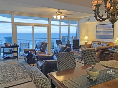 Photo for Beautiful CLEAN 5 BR/4B Oceanfront Luxury Condo, Huge Balcony, Media Rm, 5 STARS