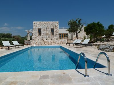 Photo for Architecturally Designed Sea View Villa in Carovigno, Nr Ostuni with Heated Pool
