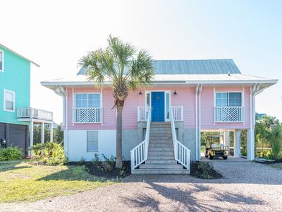 Photo for Two-bedroom cottage on Harbor Island, with creek views & golf cart.