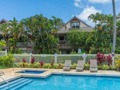 Photo for OPEN 12/8-12!! Aloha Shack 2 BR Princeville Condo with Pool and Hot Tub! (101-2)