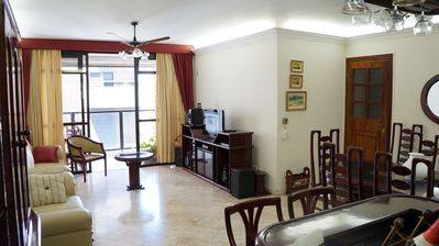 Photo for Pitangueiras one block from the sea, beach service and prime location.