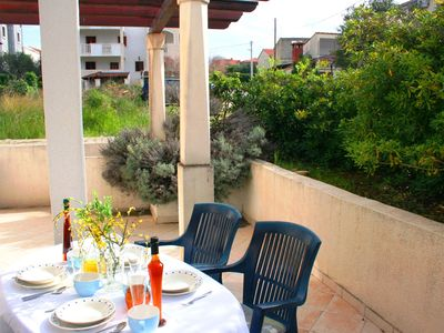 Photo for Comfortable apartment with 12 sq m terrace, 300 m from the beach