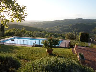 Photo for Apartment 6/7 guests, in the heart of Chianti, 27 km Firenze, 35 km Siena, 25 km S.Gimignano