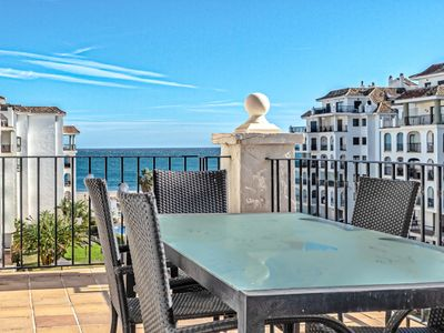 Photo for Property for rent directly on the beach: let Duquesa harbour seduce you