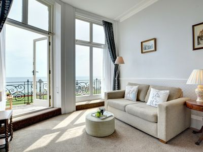 Photo for Magnificent apartment with balcony and sea views