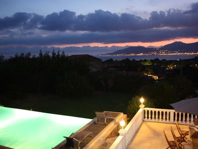 Photo for Villa De Charme, Panoramic Sea view, large heated pool with overflow