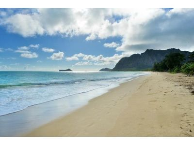 Photo for Remodeled Beach Cottage across from Waimanalo beach w/AC