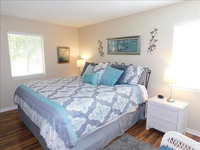Photo for Cozy 2 bedroom, 2 bath condo on the second floor with all new furnishings, linens, and towels. Views of lake and green space!