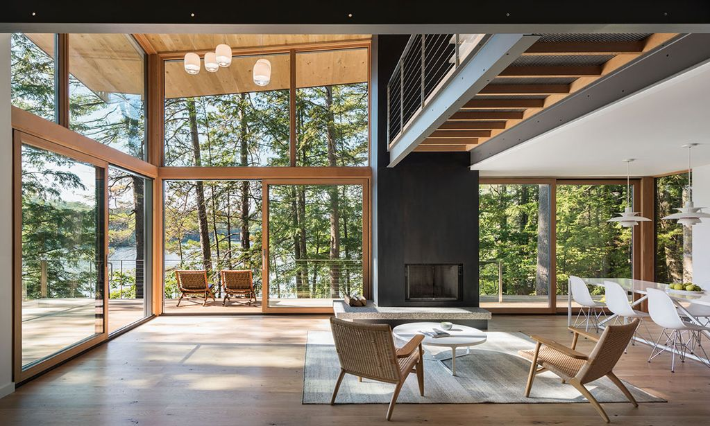 Modern masterpiece on Squam, featured in Dwell and Boston ...