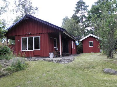 Photo for Holiday home in southern Sweden Småland to 6 people.+ Rowing boat, lake-side location
