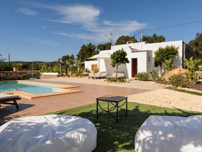 Photo for Fully Renovated Ibiza Style Country House with A/C, large Garden and Private Pool !