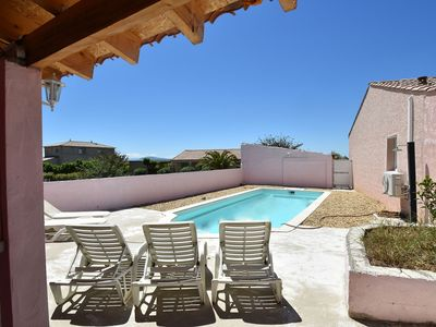 Photo for Air-conditioned villa with private, fenced swimming pool with covered terrace