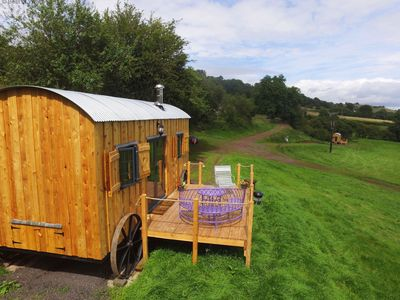 Photo for The Flying Scotsman is a delightful glamping cabin inspired by a railway carriage and offers a peace