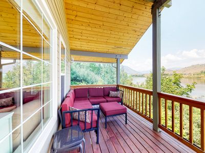 Photo for Lakefront home on an acre w/ deck and 268 feet of Wapato Lake frontage!