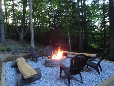 Enjoy the Vermont Air by our private fire pit!