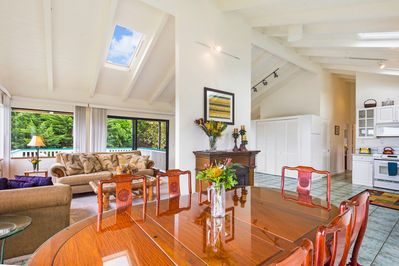 Open floorplan: From the dining room