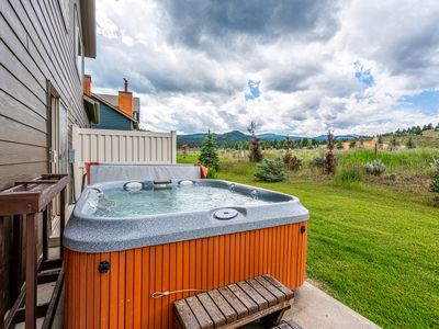 Photo for Rustic home w/ a wood stove, private hot tub, & stunning mountain views!