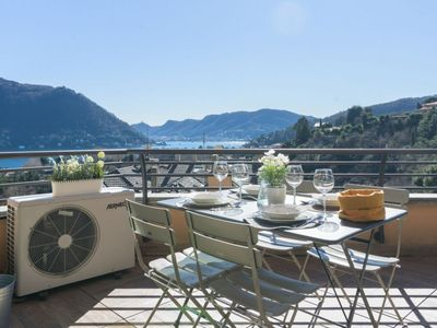 Photo for Modern apartament with a beautiful view of the lake, in the city of Cernobbio