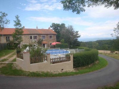 Photo for The lodging of Osfond. Pretty cottage 10 pers. in the countryside with heated pool (solair