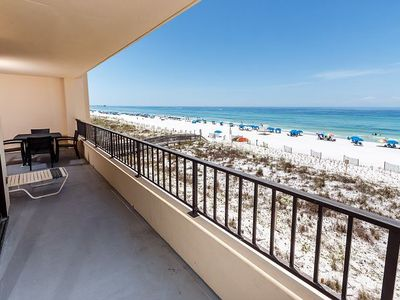"Photo for ""Surf Dweller Unit 309"" Large balcony gorgeous Gulf front unit!"