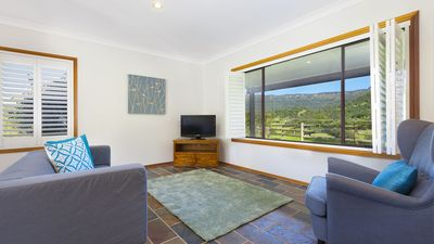 Lounge room with views of Foxground Valley