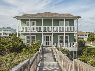 Photo for The Beach House - 5 Bed/3 Bath Gorgeous Oceanfront Home on Caswell Beach