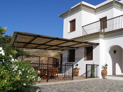 Peña Blanca Villa sits on private grounds offering various terraces for relax