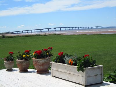 View of Confederation Bridge from the deck