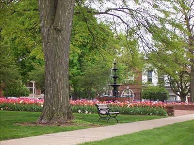 Pella town square, just out the front door!