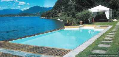 Photo for holiday vacation large villa rental italy, italian lakes district, lake maggiore, lakeside, pool, walk to town, air cond