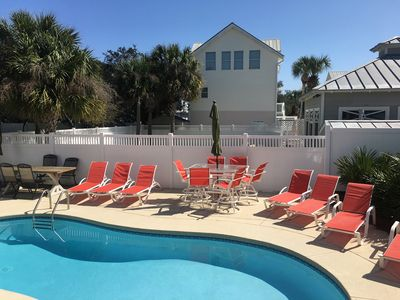 Photo for SUMMERWIND 5 BED PLUS Bunk BASKETBALL COURT PRIVATE  POOL 2 MASTERS 3 STORY