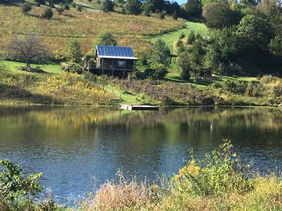 Photo for Rustic Cabin on 3 stocked ponds - The Empty Nest - Bellevue, Iowa