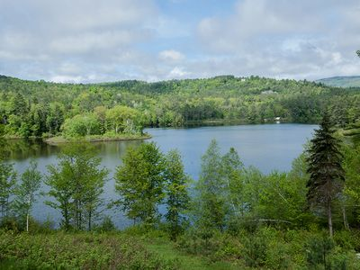 Photo for Lakefront Log Home, hike, ski, swim, foliage, secluded & quiet