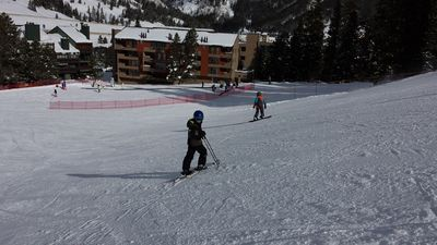 View of Spruce Lodge from Slopes
