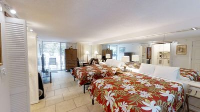 Photo for Newly Remodeled, Oversize Patio Suite, 2 New Queen Beds & kitchenette