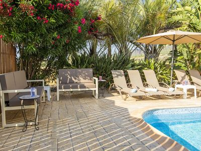 Photo for Villa Alasia -  a beach villa with heated pool that sleeps 8 guests  in 4 bedrooms