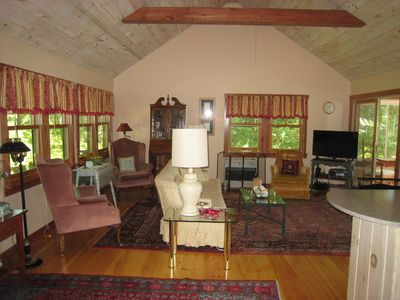 Photo for Classy Cedar Shake Cottage on Damariscotta Lake With Lots Of Charm and Amenities