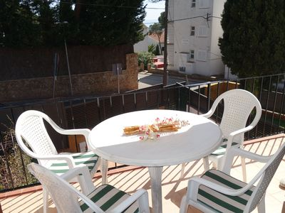 Photo for Apartment in Penya Golosa residence, with pool and very near to the village center