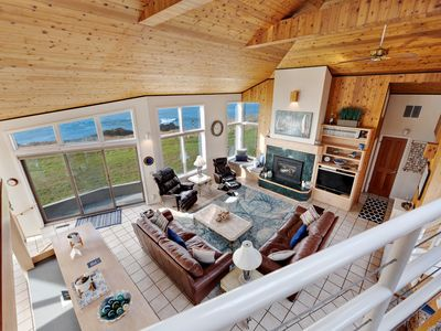 Photo for Stunning oceanfront home on the bluffs w/ hot tub & shared pools/tennis!